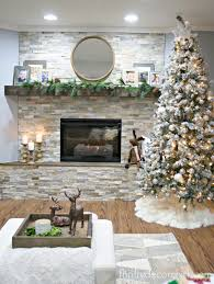 stacked stone electric fireplace
