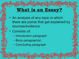 english essay presentation  3 what is an essay