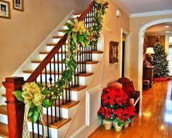 Full Image for Banister Christmas Decorations Ribbon Decoration Ideas All  About Banister Banquette Diy Christmas Banister ...