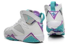 air jordan shoes for girls grey. air jordan 7 gs neutral grey mineral blue-bright violet-white girls size cheap shoes for