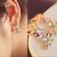 <b>New Fashion 1</b> Pair Women Lady Elegant Crystal Rhinestone Ear ...