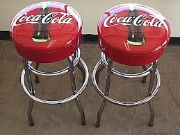 2 vintage style e coca cola tall table height bar stools new throughout coca cola bar table decorating