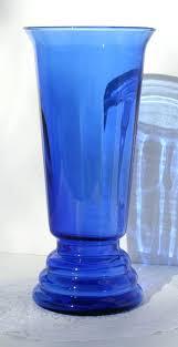 large blue glass vase vintage cobalt blue glass vase large by large blue art glass vase
