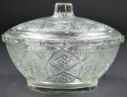 candy dishes with lids antique blue glass candy dish with lid