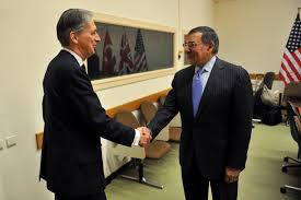 u s department of defense photo essay u s defense secretary leon e panetta right greets british defense secretary philip hammond