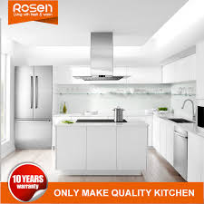 modern style white high gloss paint kitchen cabinets furniture