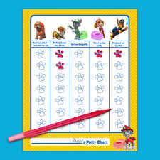 daily potty training chart paw patrol potty training chart nickelodeon parents