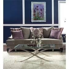 furniture of america charlette velvet upholstered sofa in light gray
