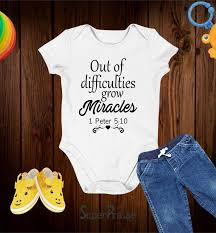 Relatives and friends call jonathan waldick the miracle baby. they call the event the miracle at 1400 fair oaks. jonathan is 3 feet tall. Out Of Difficulties Grow Miracles Bible Verse Baby Bodysuit