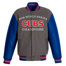 chicago cubs 2016 3 time world series champions mens reversible wool with faux leather sleeves jacket by jh design 27 gif