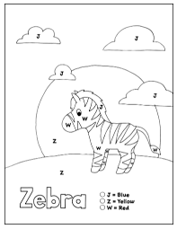 From a to z (hand drawn). Free Printable Color By Letter Worksheets Set 5 Letters J Z W How Wee Learn