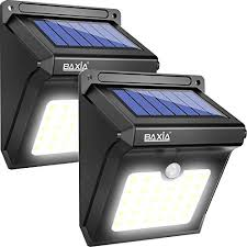 baxia technology solar lights outdoor wireless 28 led motion sensor solar lights 400 lm