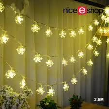 indoor string lighting. NiceEshop LED Snowflake Lights Battery Operated 8.2ft 20 LEDS Indoor String For Christmas Tree Lighting O