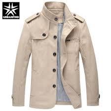 urbanfind autumn winter coats men british trench big size m 4xl brand fashion solid color man