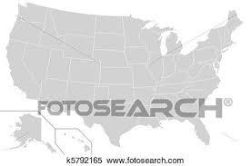 アメリカ 地図 イラスト