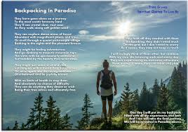 Backpacking In Paradise Inspirational Poems