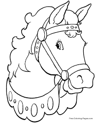 Small Picture Printable Horse coloring pages 004