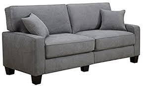 73 inch sofa. Wonderful Inch Serta At Home Sofa2Go Kona Collection Sofa Gray Fabric 73Inch CR45234B Throughout 73 Inch Sofa L