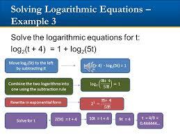 19 solving logarithmic