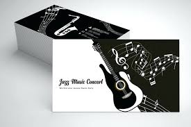 Jazz Music Business Card Template Example Image 1 Templates Free