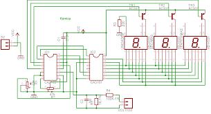 a digital voltmeter the wiring diagram of digital voltmeter