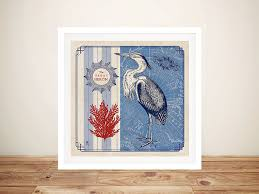 sea bird great heron canvas prints
