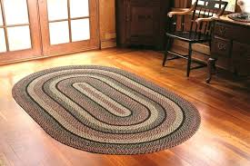 oval rugs 7x9 8 foot round braided natural fiber area red rug for
