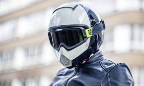 cafe racer helmet with goggles