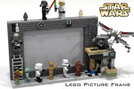 the lego picture frame featuring star wars