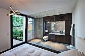master bedroom with open bathroom. Awesome Master Bedroom Ensuite Bathroom Open Plan Design Ideas With