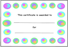 Kids Award Certificate Kids Award Certificate Template With Colored Circles Border Download