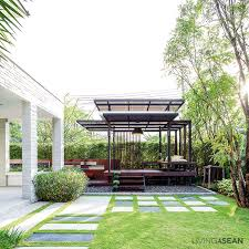 What is a pavilion Cedar The Wide Grass Lawn Can Be Adapted To Different Activities Stylishly Modern Sand Wash Concrete Walkway Leads In From The Front Livingasean Wooden Pavilion Archives Living Asean Inspiring Tropical