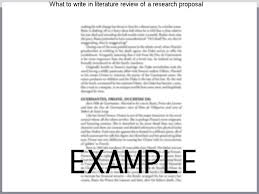 What To Write In Literature Review Of A Research Proposal, College ...