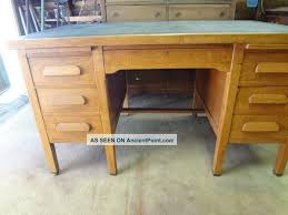 Unique Vintage Office Desk With Vintage S Solid Oak Executive Office