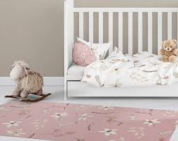 rug on carpet nursery. Pink Floor Rug Nursery Covering Floral Area Modern Rugs Decor On Carpet