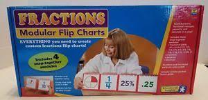 Educational Insights Fractions Modular Flip Charts Ei 3243
