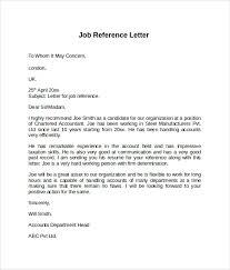 Job Reference Letter Example Elegant Job Reference Letter Template