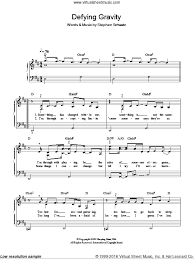 defying gravity sheet music cast defying gravity sheet music for piano solo