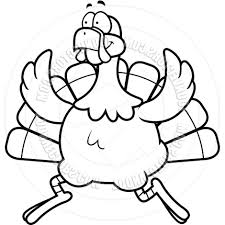 running turkey clipart black and white. Inside Running Turkey Clipart Black And White