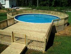 above ground round pool with deck. Simple Ground Above Ground Pool Deck For 24 Ft Round Pool Deck Is 28x28  SWIMMING POOLS  Pinterest Ground Pools Decking And Rounding Throughout Round Pool With O