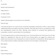 Warning Letter Templates - 20+ Sample & Formats For Hr Warnings