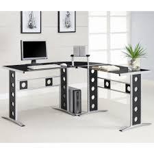 coaster contemporary computer workstation office desk table. L Shape Desk Coaster Contemporary Computer Workstation Office Table