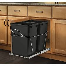 Wooden Kitchen Trash Cans. . Full Size Of Kitchen Amazing Pull Out ...  revashelf 35quart plastic pull out trash can