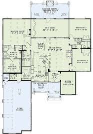 Plan ND  Rustic Brick Ranch Home With Sunroom   Safe Room    House plans