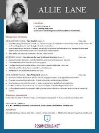 Resume Template 2016 Stunning Best Resume Template 28 Trenutno