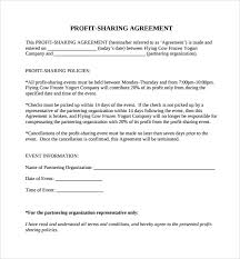 Profit Sharing Agreement Template Adorable Simple Revenue Sharing Agreement Template Tridentknights