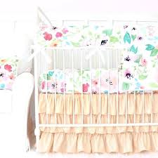 fairy tale fl peach ruffle baby girl bedding infant crib things to consider before purchasing gold mint c and white baby girl bedding