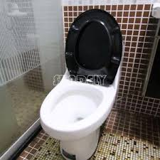 black soft toilet seat. image is loading new-black-soft-close-top-fix-quick-release- black soft toilet seat