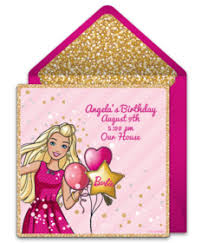 Electronic Birthday Invite Free Barbie Online Invitations Punchbowl