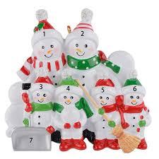 Großhandel Schneemann Schaufel Familie Von 2 3 4 5 6 Polyresin Christbaumschmuck Personalisierte Geschenke Home Holiday Indoor Weihnachtsdekoration